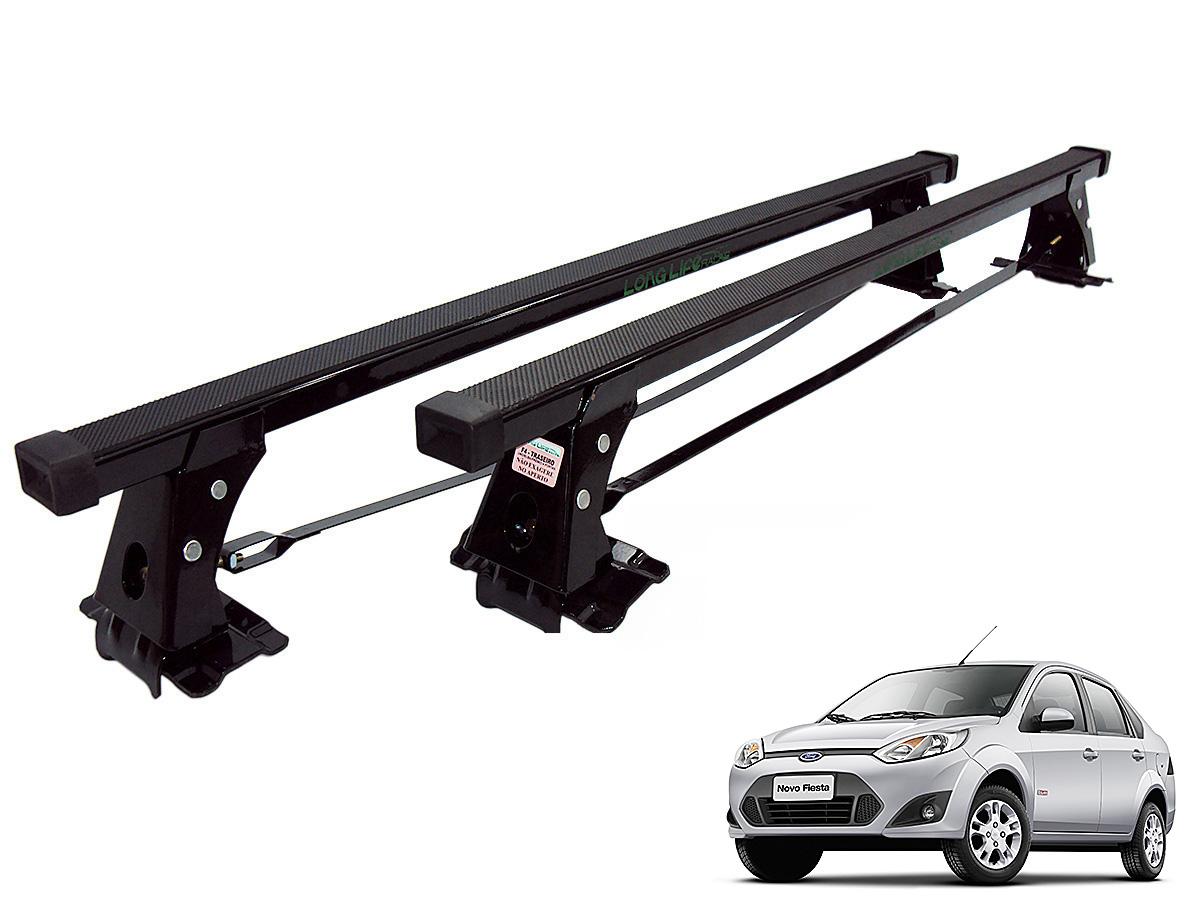 Rack de teto Fiesta Hatch ou Sedan 2003 a 2014 Long Life aço