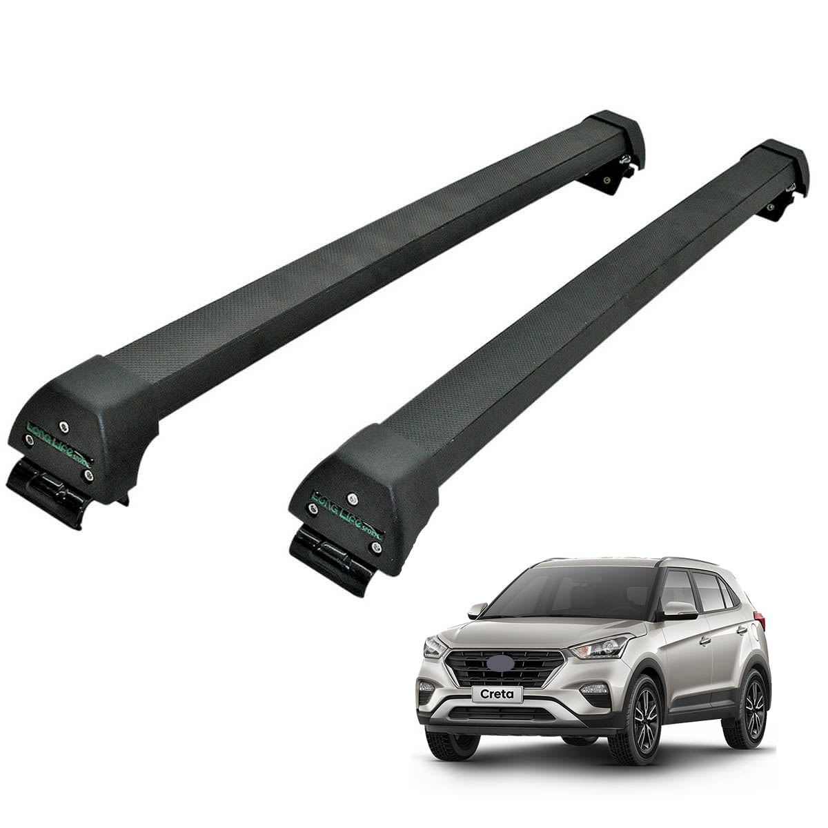 Rack de teto Hyundai Creta 2017 Long Life Sports preto