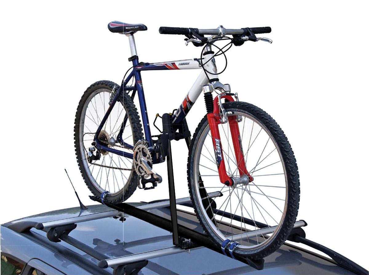 Rack de teto para bicicleta em alumínio preto Kiussi Tonale Black