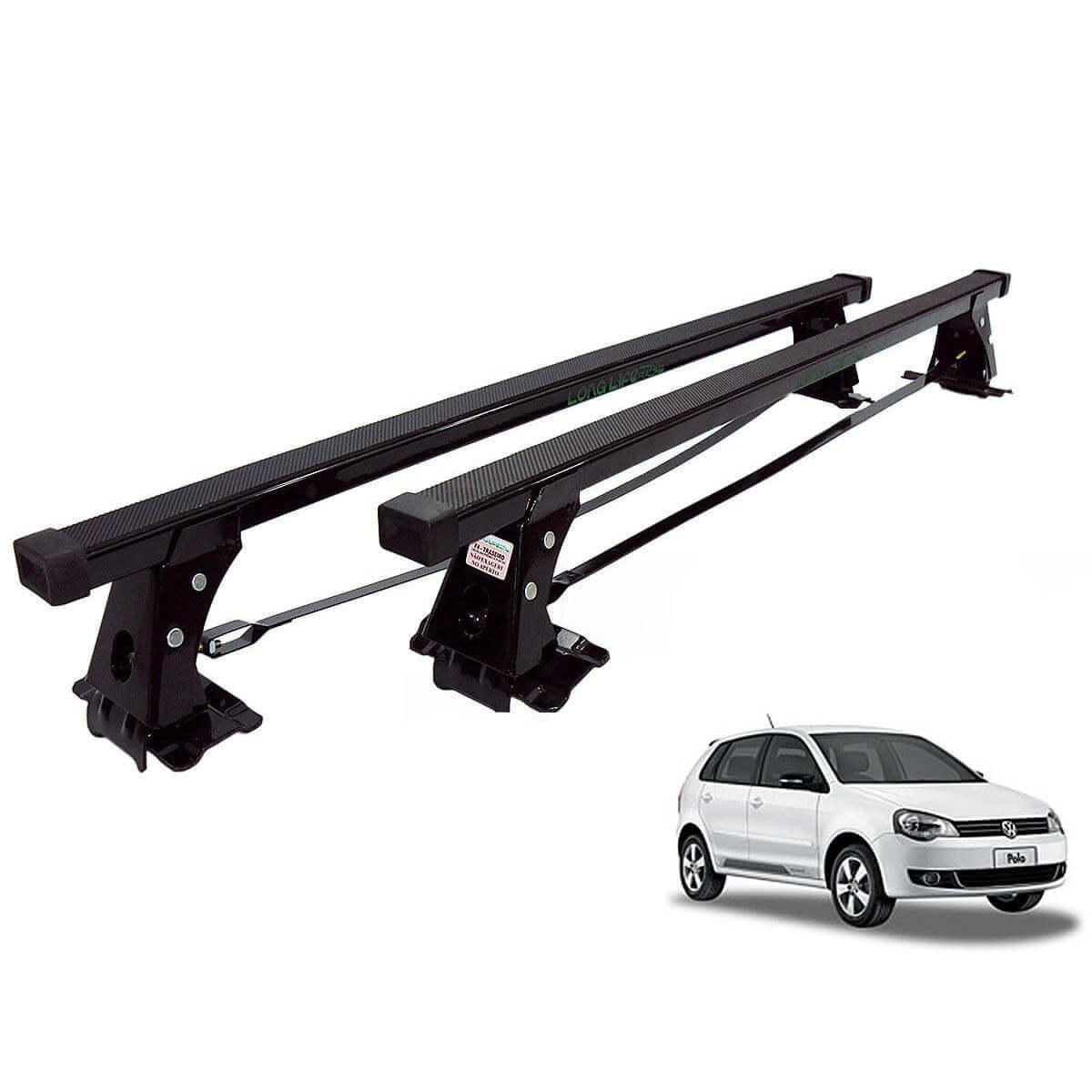 Rack de teto Polo Hatch ou Sedan 2003 a 2015 Long Life aço