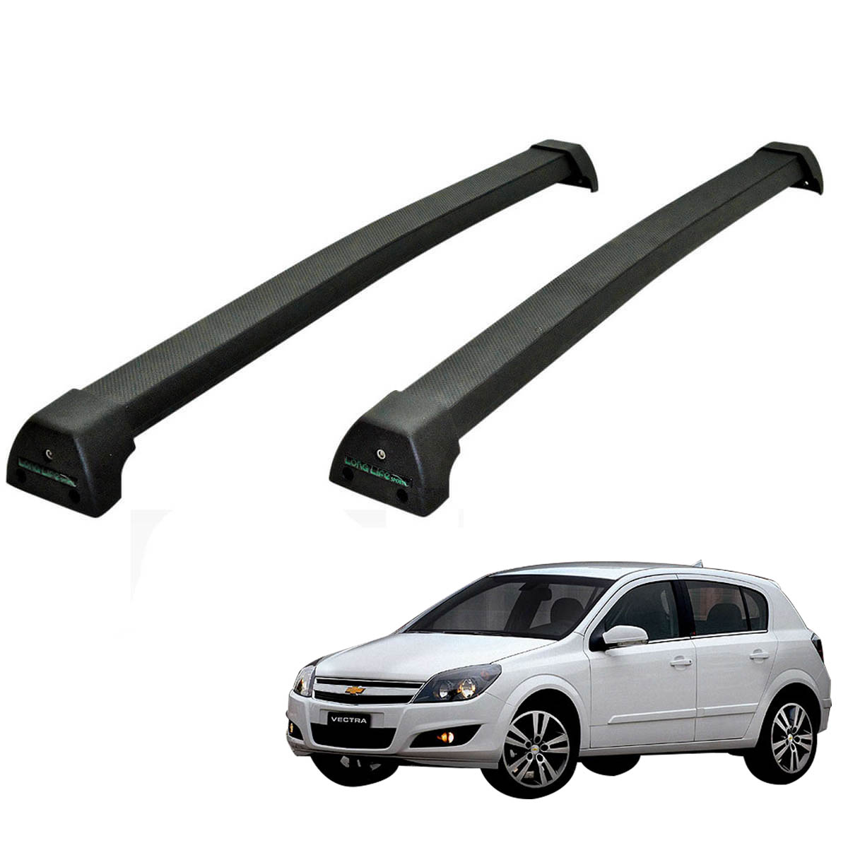 Rack de teto Vectra GT GTX 2008 a 2011 Long Life Sports preto