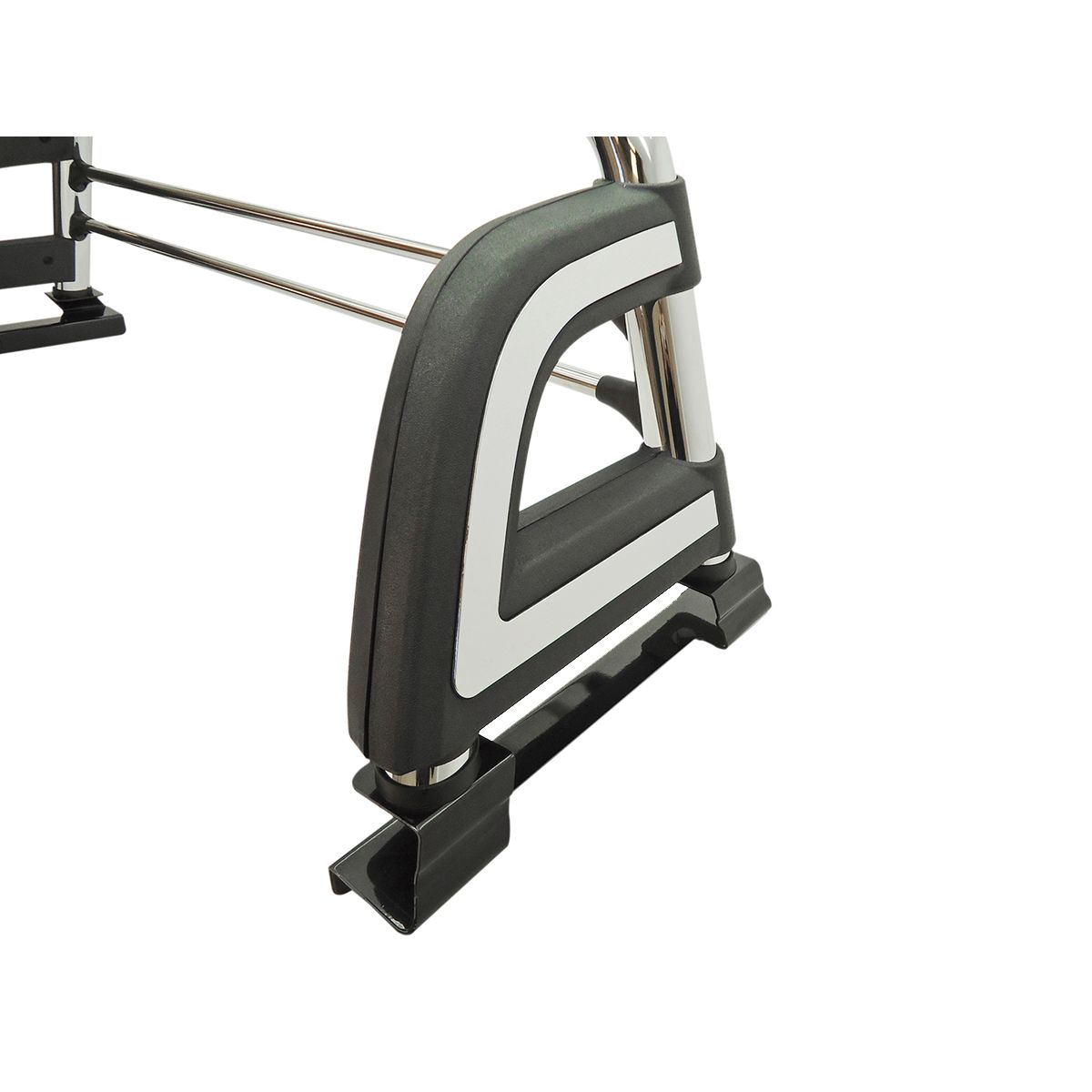 Santo antônio cromado esportivo Bepo Frontier 2008 a 2016 com barras de proteção de vidro