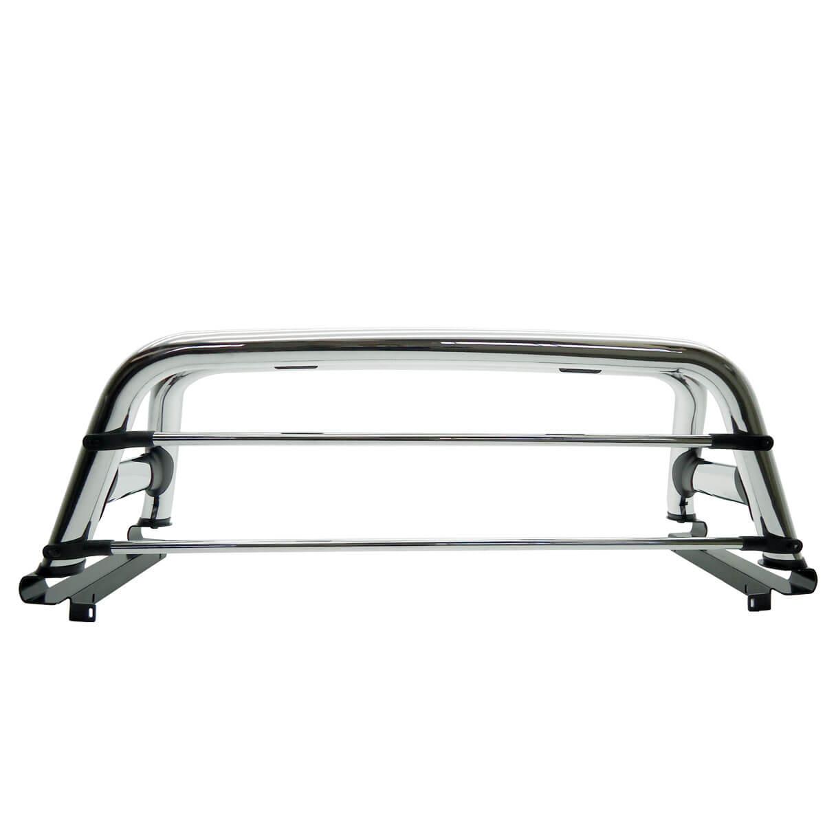 Santo antônio duplo cromado Dodge Ram 2005 a 2011 ou Laramie 2012 com barras de vidro cromadas