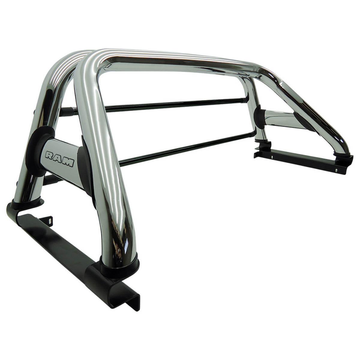 Santo antônio duplo cromado Dodge Ram 2005 a 2011 ou Laramie 2012 com barras de vidro