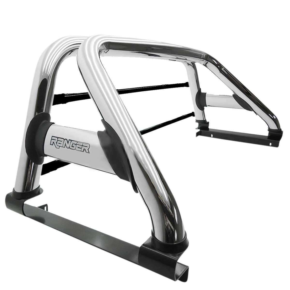 Santo antônio duplo cromado Nova Ranger 2013 a 2018 com barras de vidro