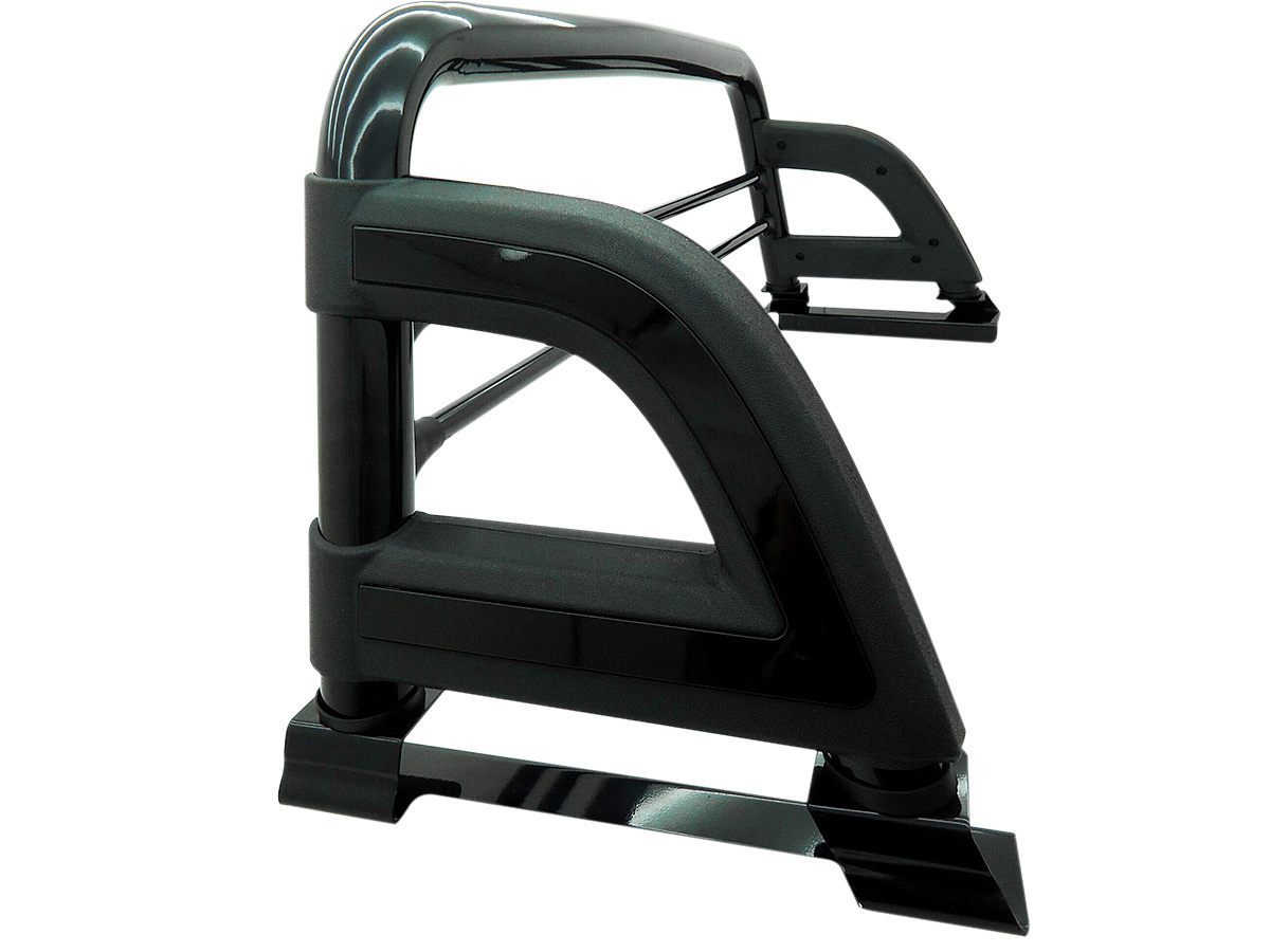 Santo antônio preto esportivo Bepo Hilux 2005 a 2015 com barras de proteção de vidro