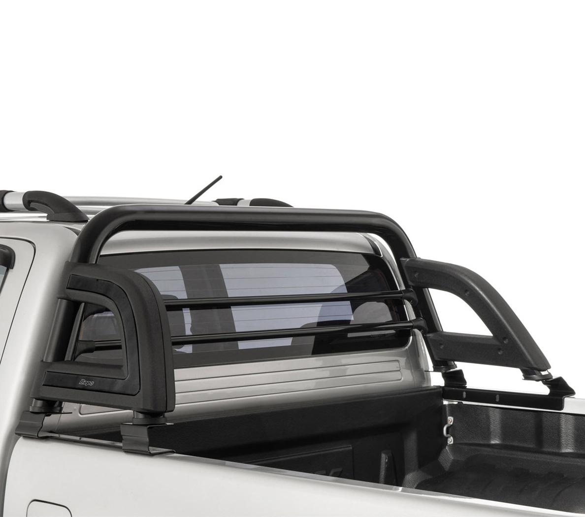Santo antônio preto esportivo Bepo Nova Ranger 2013 a 2017 com barras de proteção de vidro
