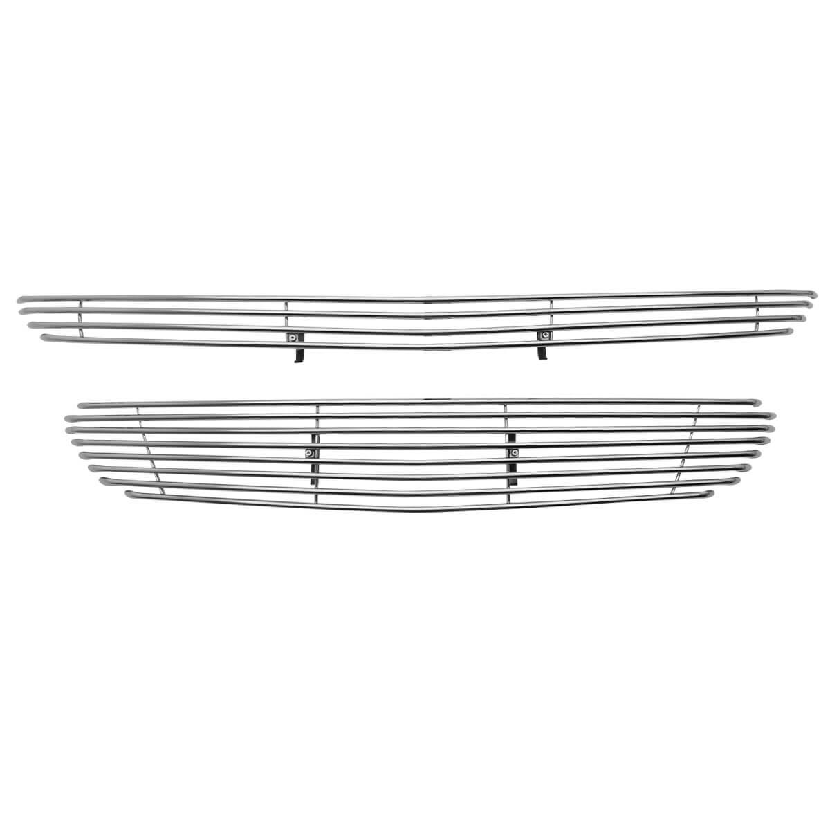 Sobre grade filetada em aço inox Nova S10 2017 - kit 2 peças