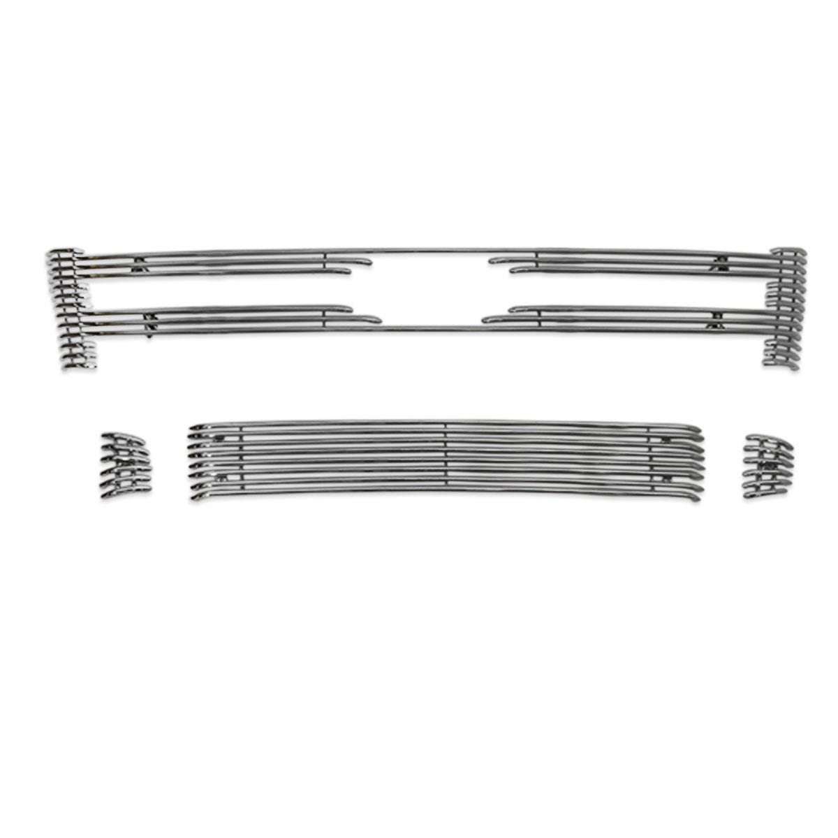 Sobre grade filetada em aço inox Nova Ranger 2013 a 2016 - kit 4 peças