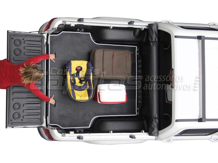 Tapete de borracha para caçamba L200 Triton 2008 a 2017 HPE, HLS, Outdoor AT Diesel e Outdoor FLEX