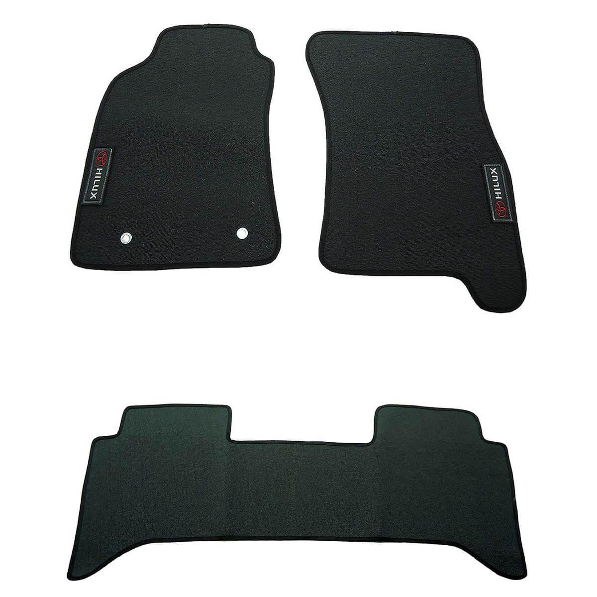 Tapete personalizado em PVC SW4 ou Hilux cabine dupla 2005 a 2015