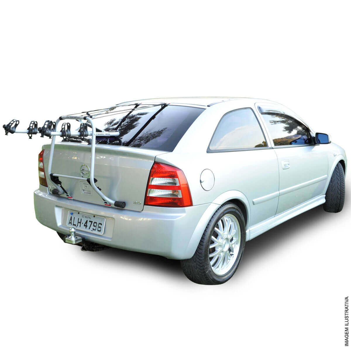 Transbike luxo fixado no porta malas carros hatch e sedan p/ 3 bicicletas