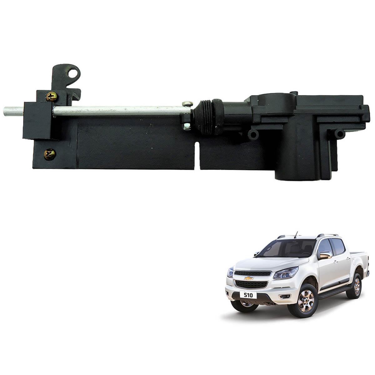 Trava tranca elétrica tampa caçamba Nova S10 2012 a 2018