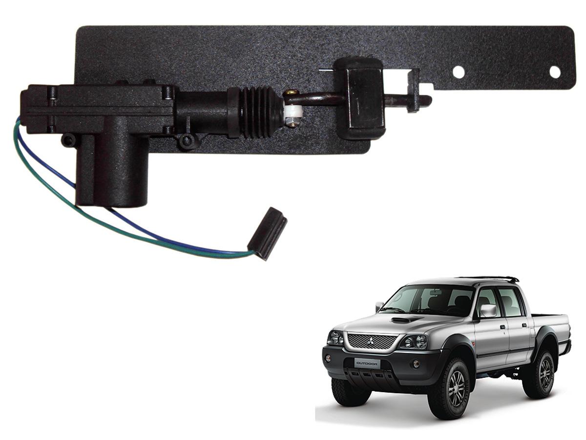Trava tranca elétrica tampa caçamba L200 Sport 2004 a 2007 ou L200 Outdoor 2007 a 2012