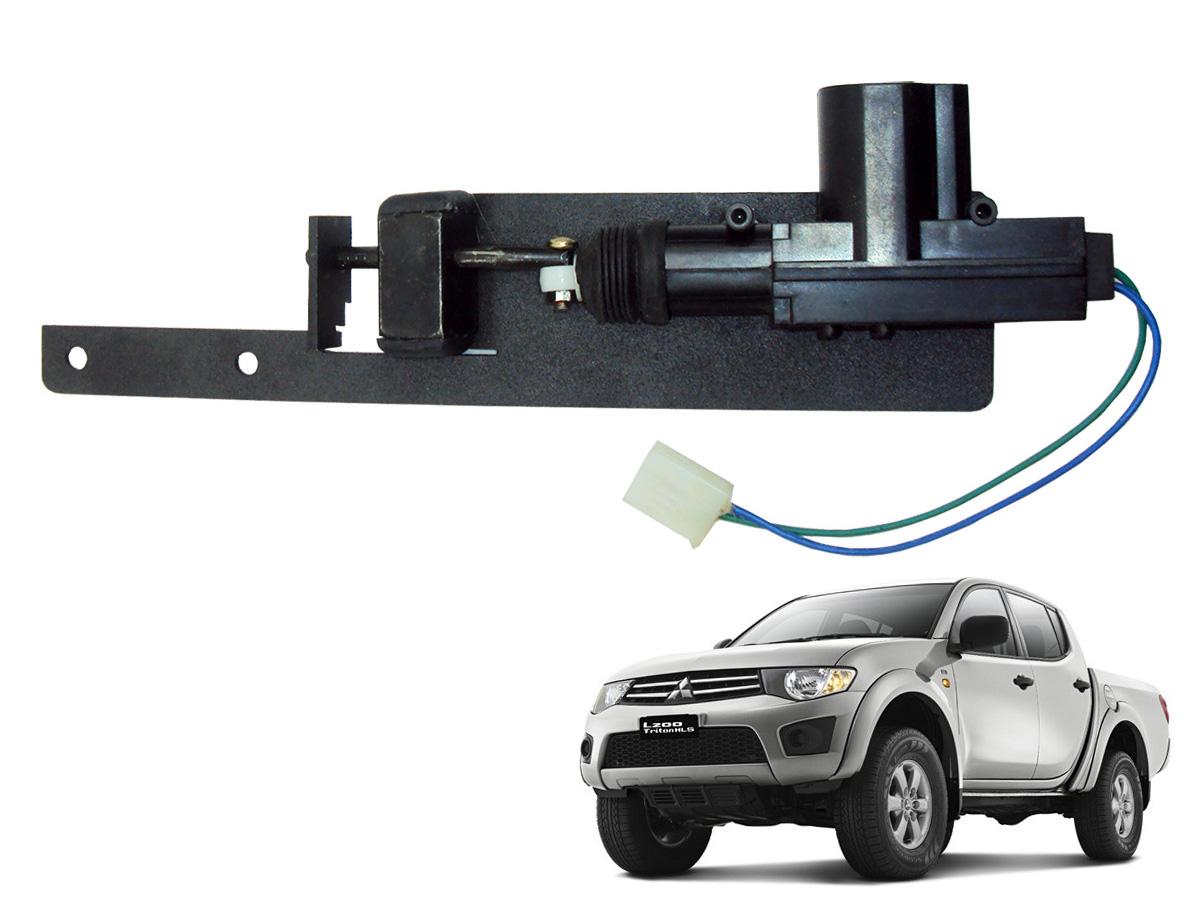 Trava tranca elétrica tampa caçamba L200 Triton 2008 a 2017