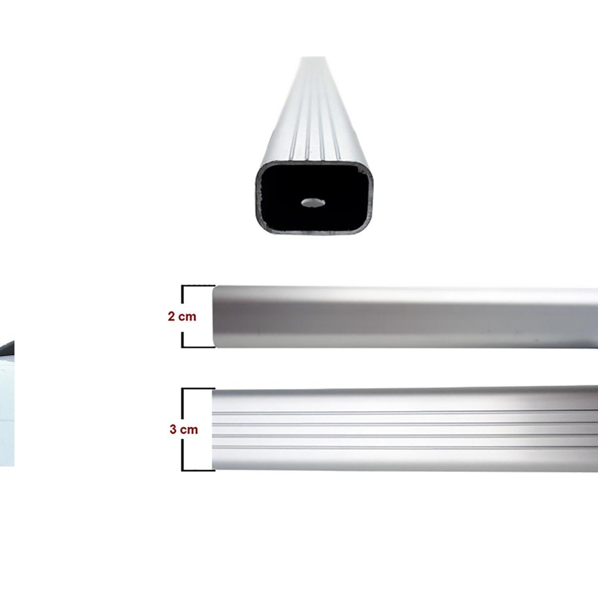 Travessa rack de teto alumínio HB20X 2014 a 2017