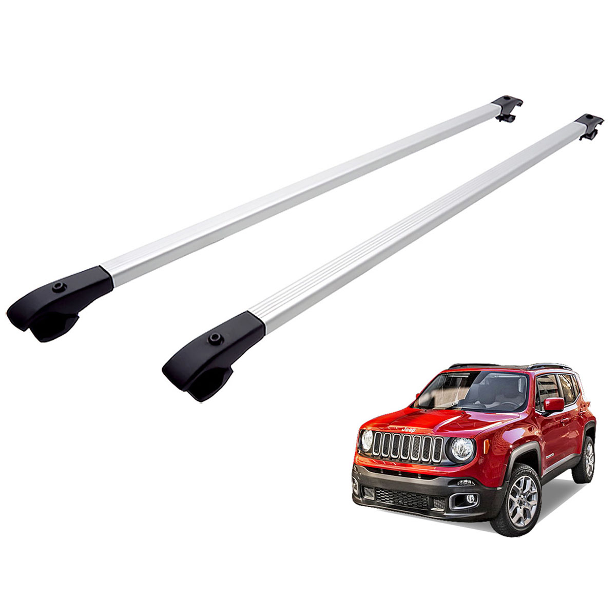 Travessa rack de teto alumínio Jeep Renegade 2016 2017