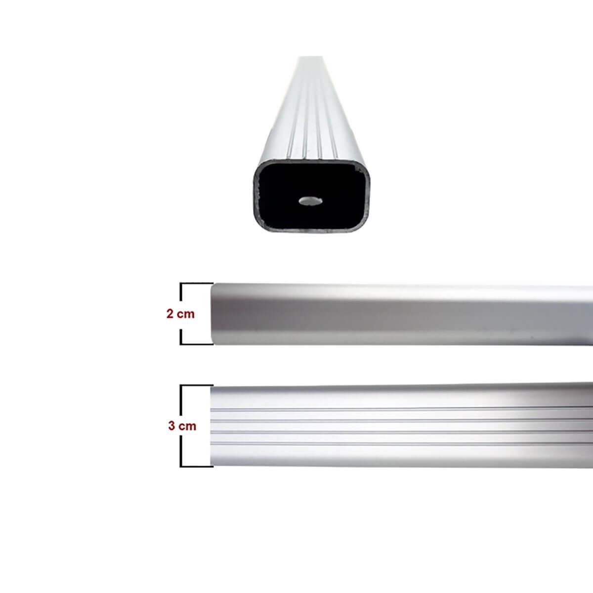 Travessa rack de teto alumínio Nova Tracker 2014 a 2017
