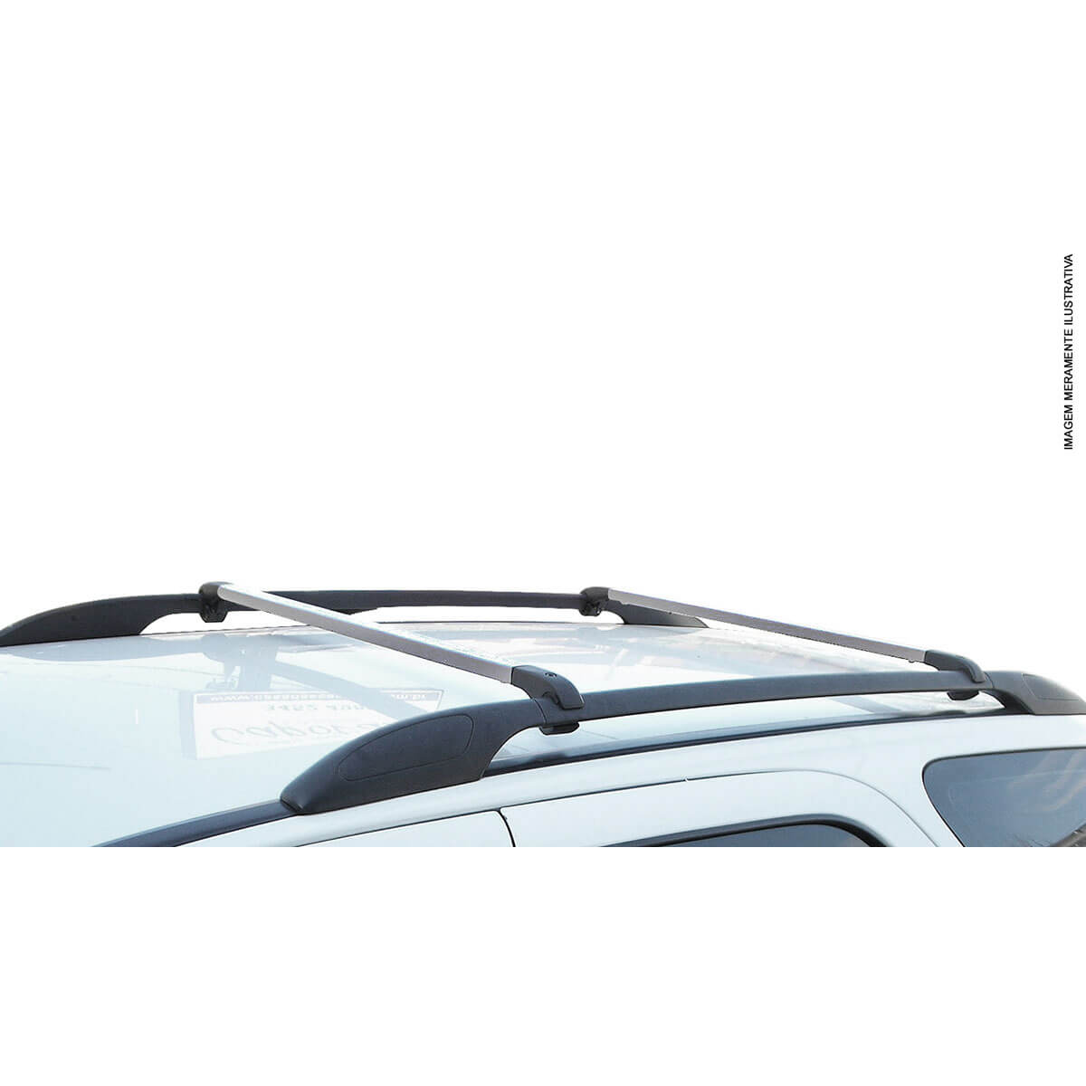 Travessa rack de teto alumínio Peugeot 2008 2016 e 2017