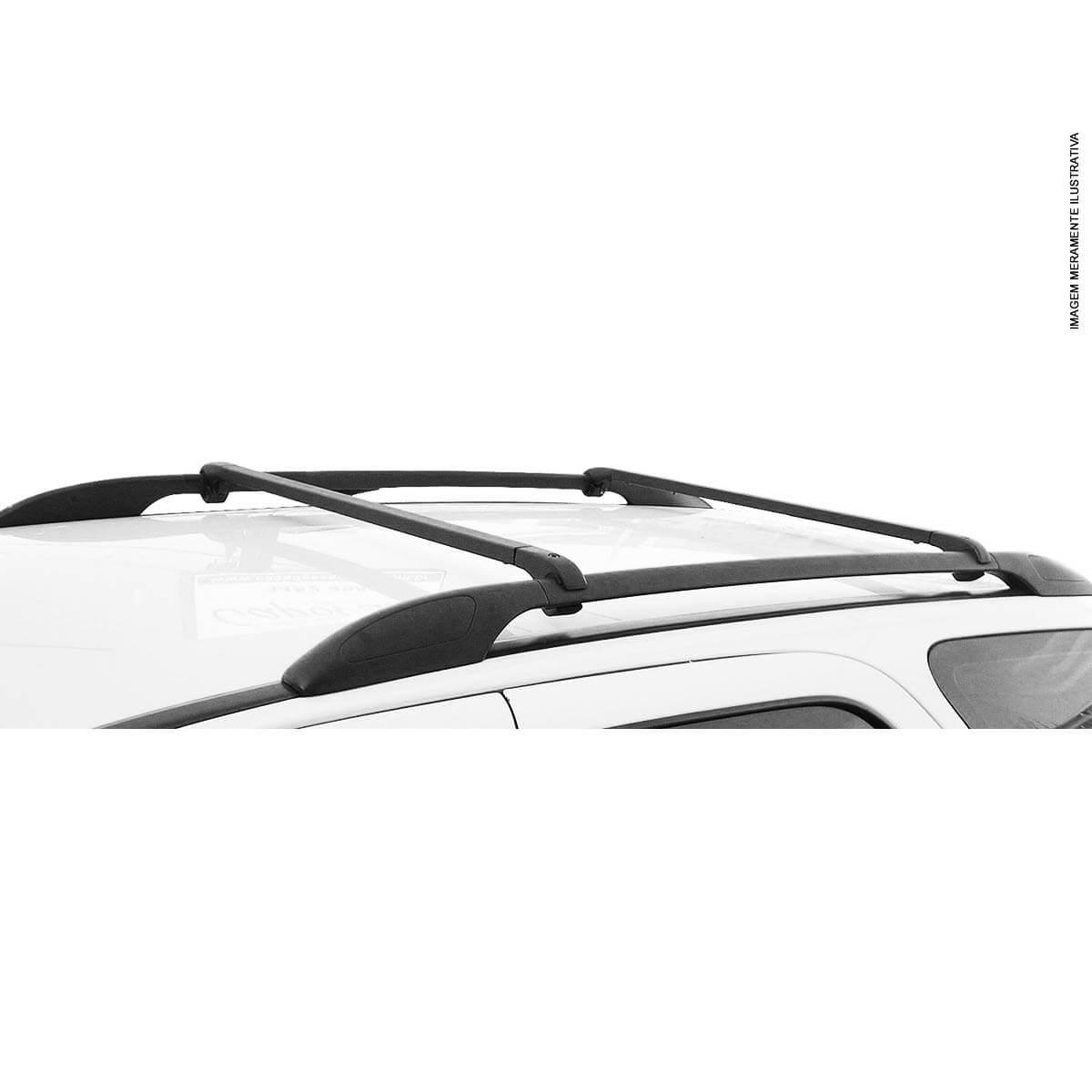 Travessa rack de teto alumínio preta UP! Cross VW up 2014 a 2018