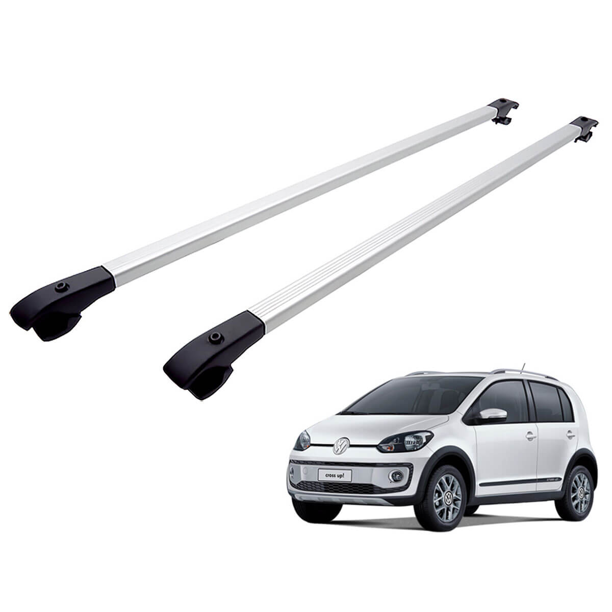 Travessa rack de teto alumínio UP! Cross VW up 2014 a 2018