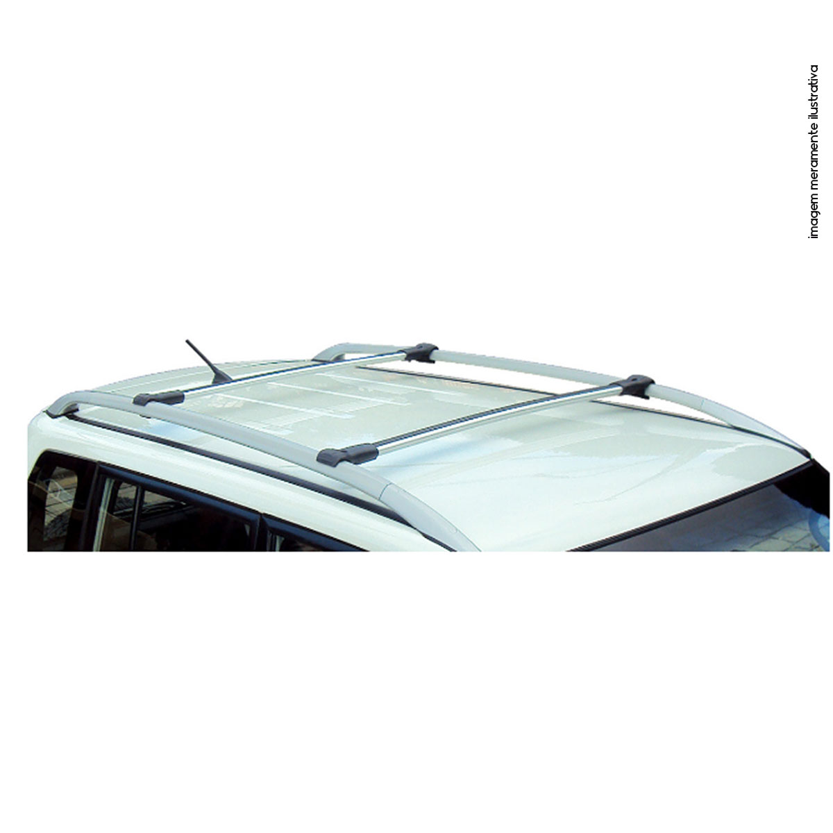 Travessa rack de teto larga alumínio Airtrek 2003 a 2008