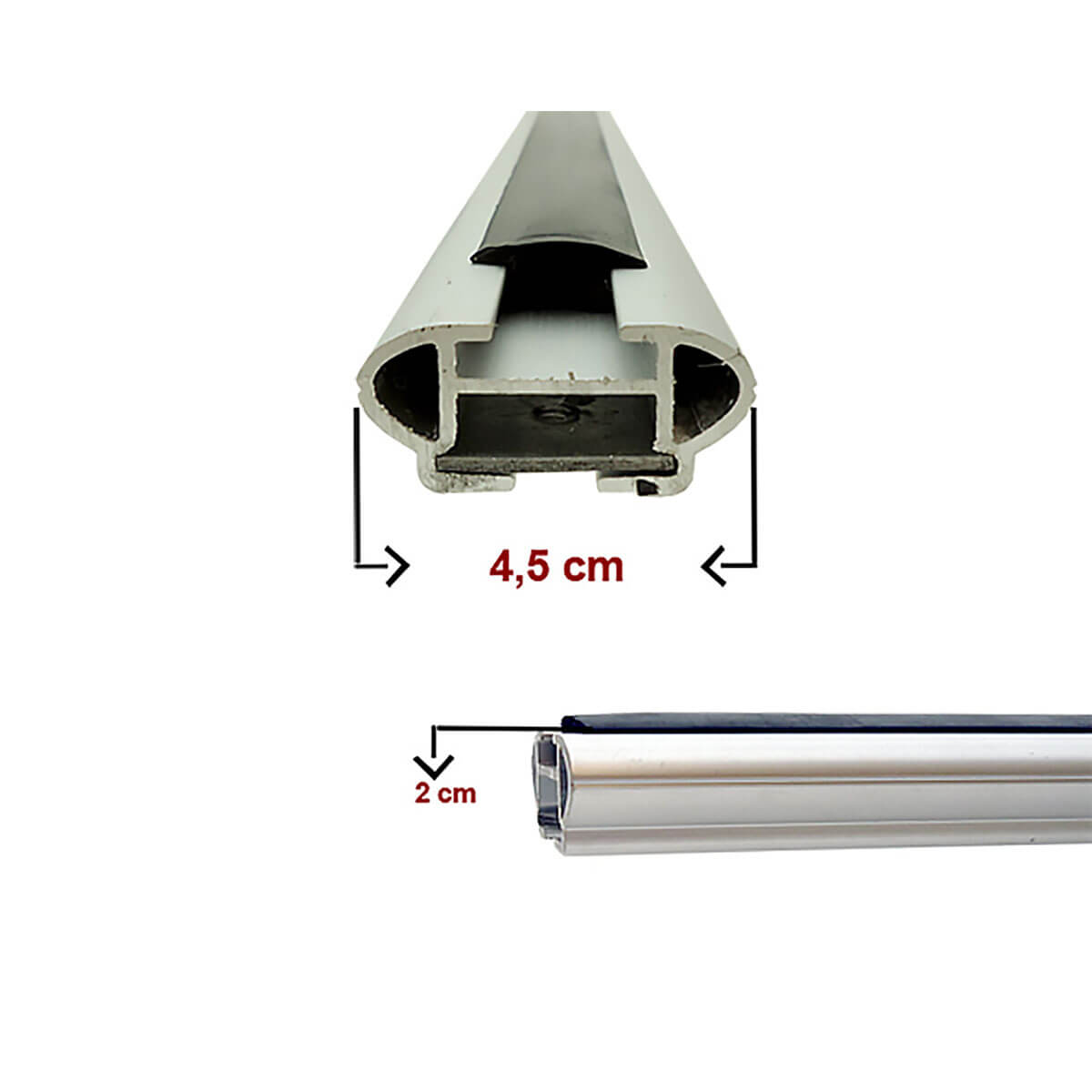 Travessa rack de teto larga alumínio Ecosport 2010 a 2012