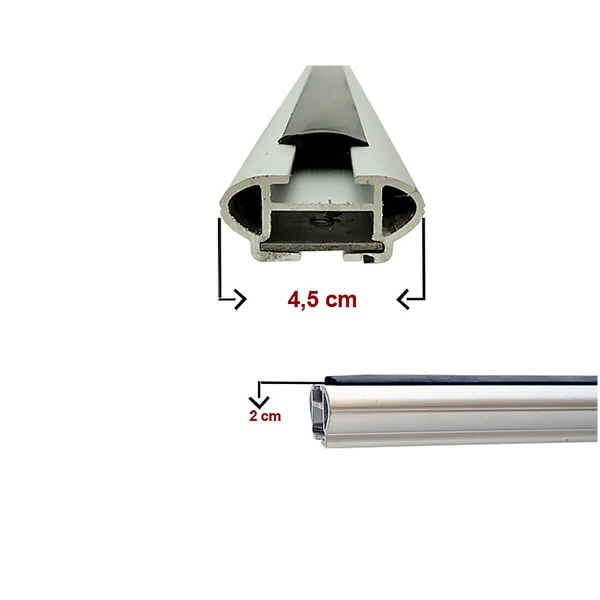 Travessa rack de teto larga alumínio Etios Cross 2013 a 2017