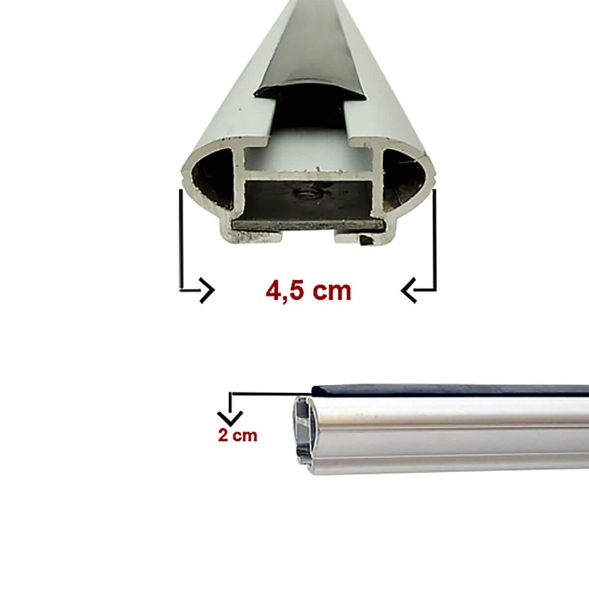 Travessa rack de teto larga alumínio Grand C4 Picasso 2009 a 2014