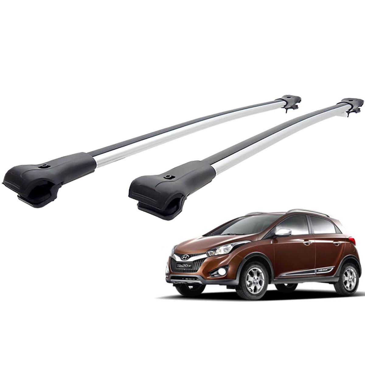 Travessa rack de teto larga alumínio HB20X 2014 a 2018