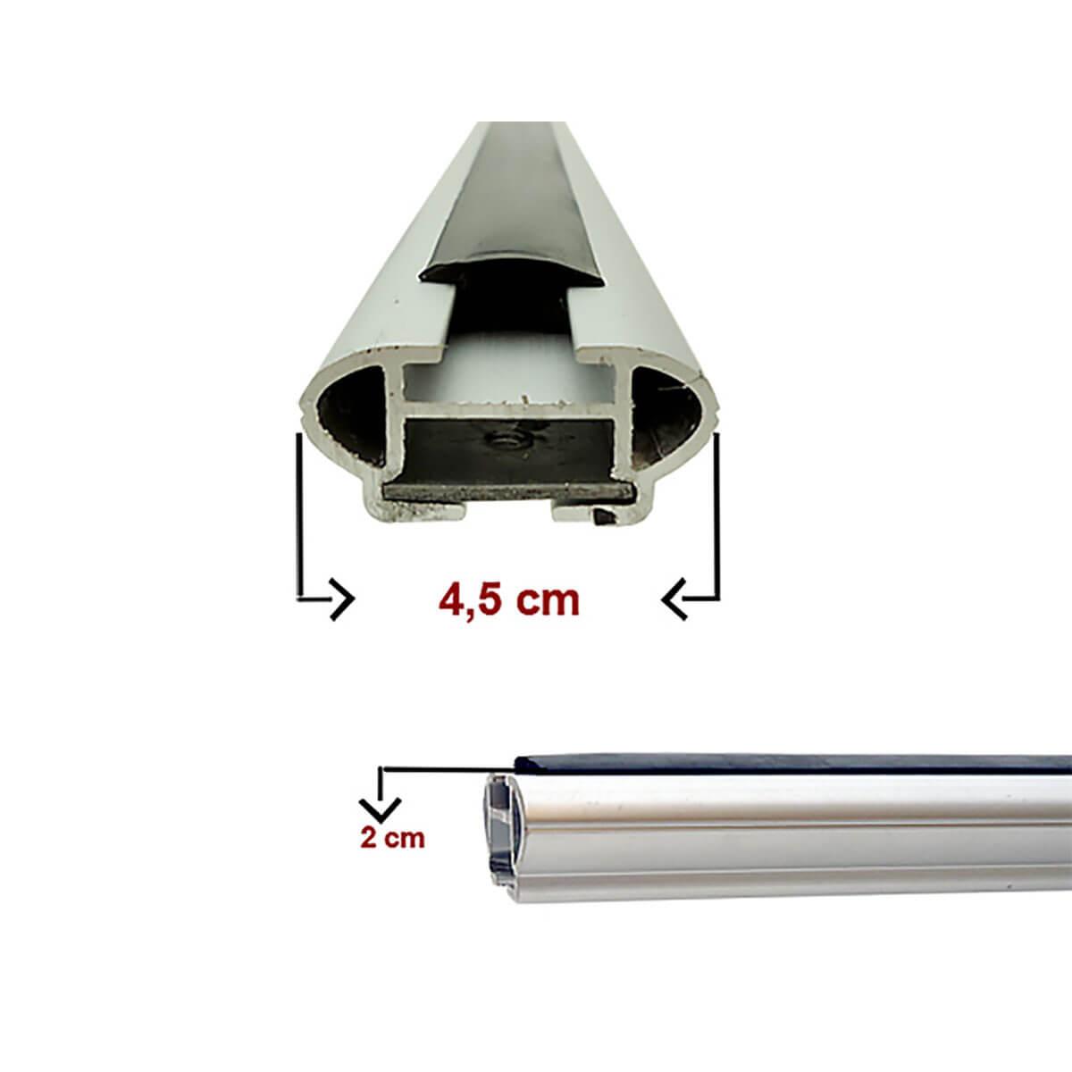 Travessa rack de teto larga alumínio HB20X 2014 a 2017