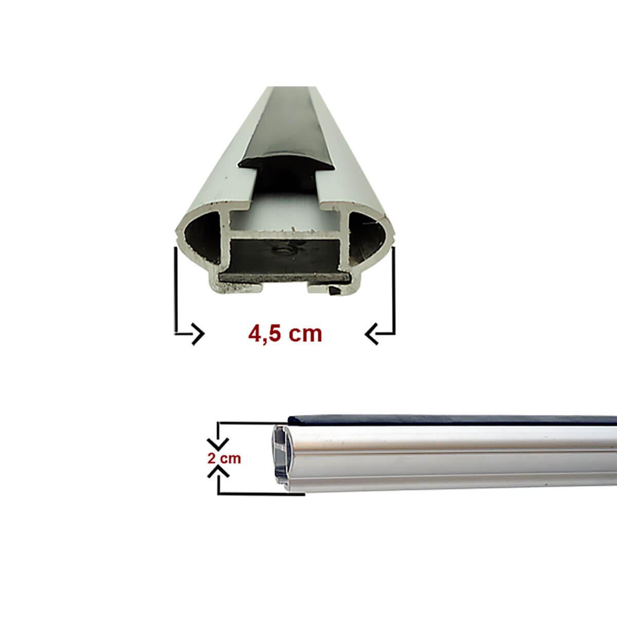 Travessa rack de teto larga alumínio IX35 2011 a 2018