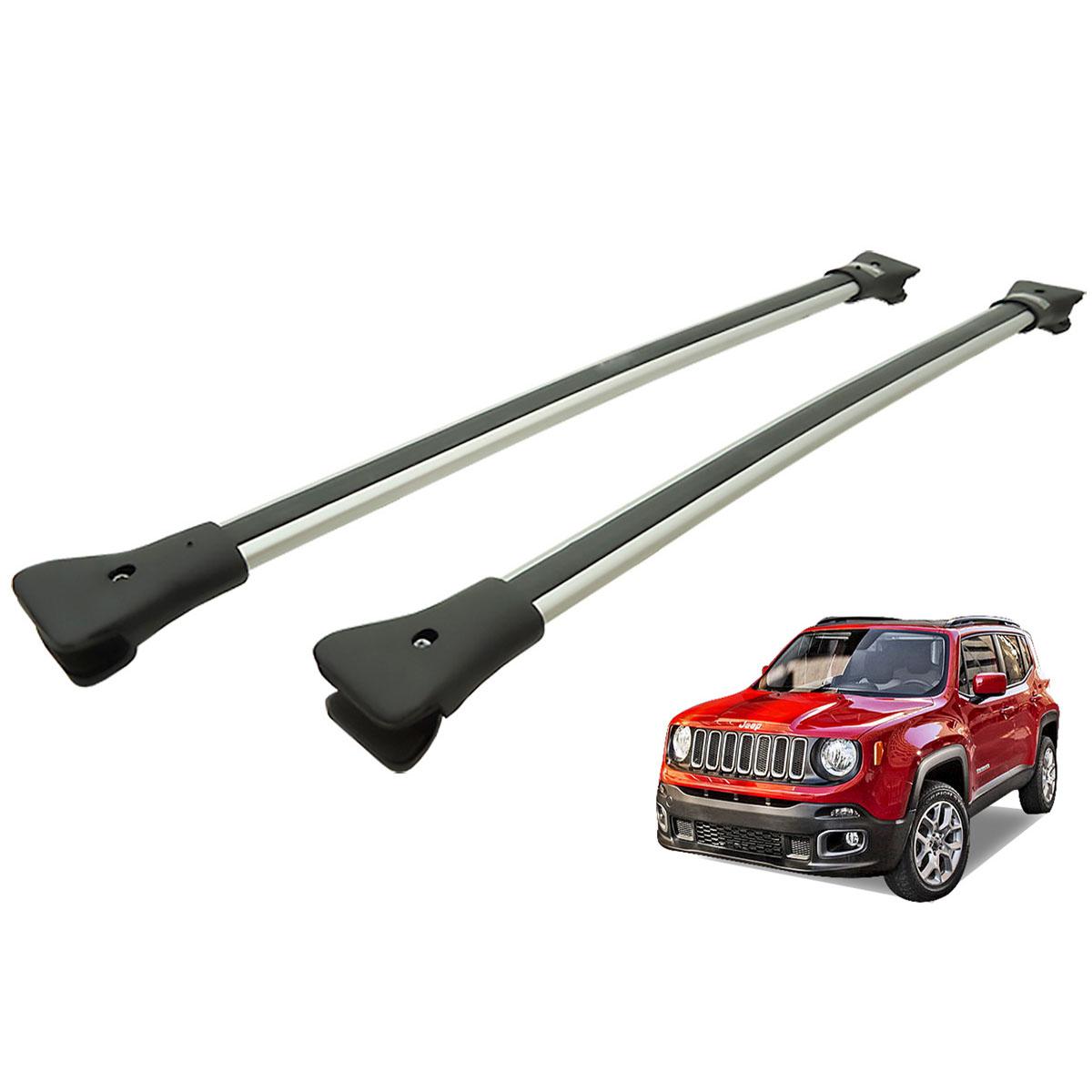 Travessa rack de teto larga alumínio Jeep Renegade 2016 2017