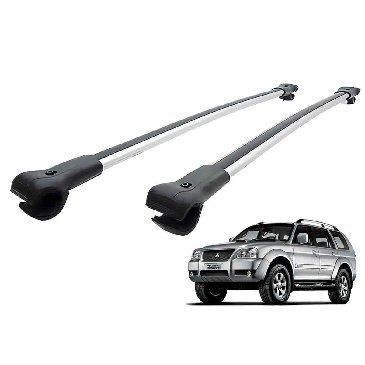 Travessa rack de teto larga alumínio Pajero Sport 2007 a 2011