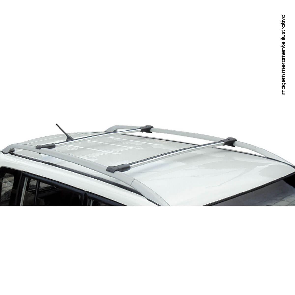 Travessa rack de teto larga alumínio Pajero TR4 2007 a 2009