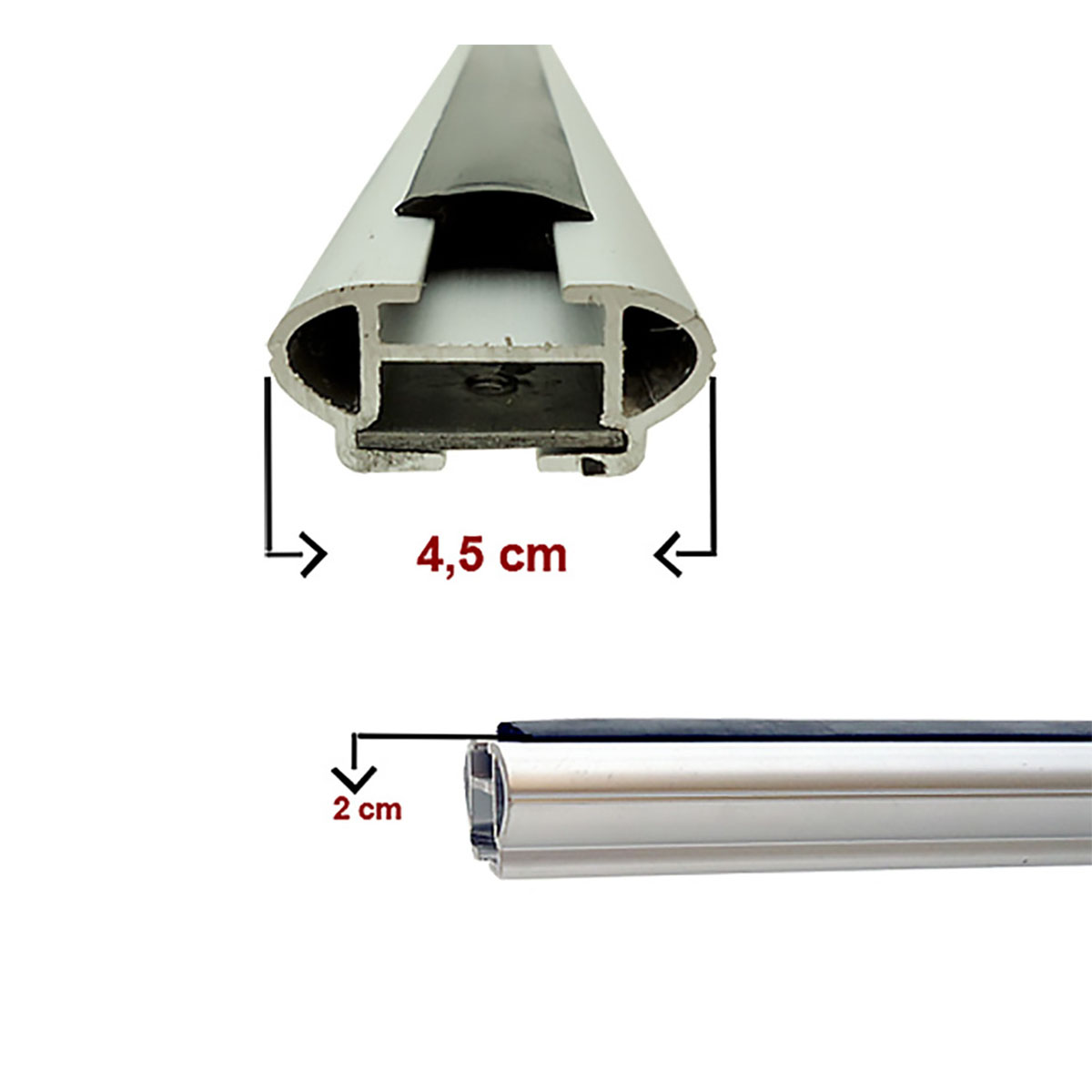 Travessa rack de teto larga alumínio Sorento 2010 a 2013