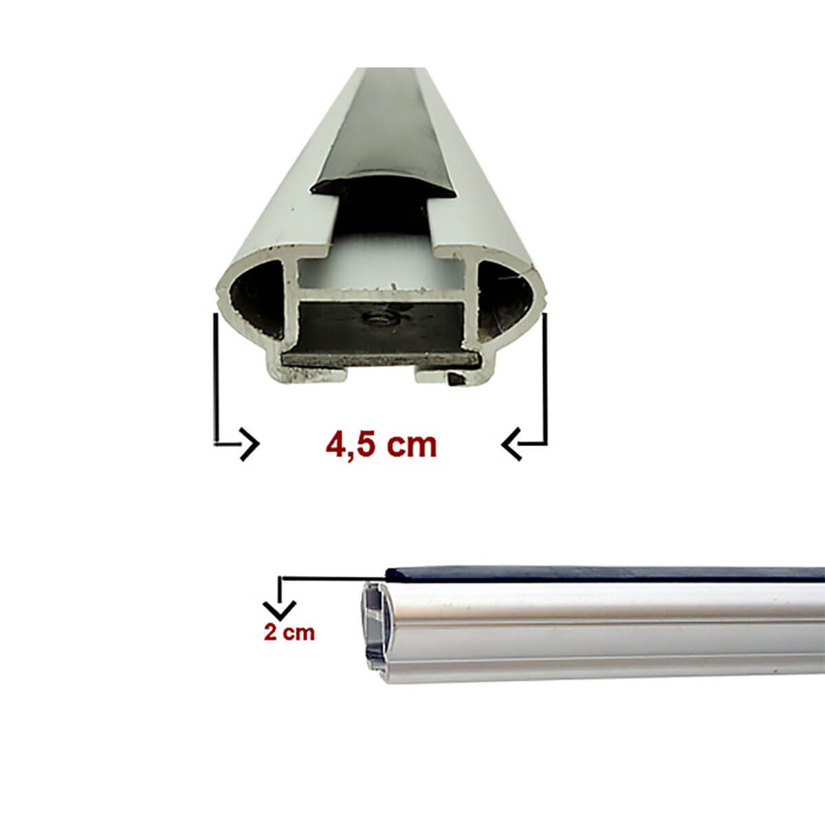 Travessa rack de teto larga alumínio Spacefox 2006 a 2018 ou Space Cross 2012 a 2018