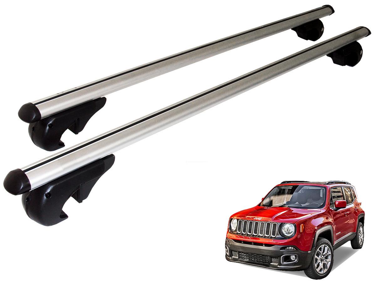 Travessa rack de teto Belluno Kiussi com chave Jeep Renegade 2016 2017
