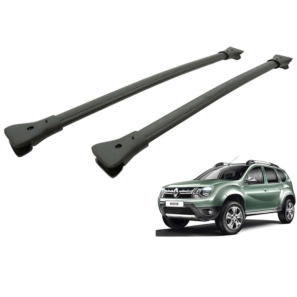Travessa rack de teto larga preta alumínio Duster 2016 2017