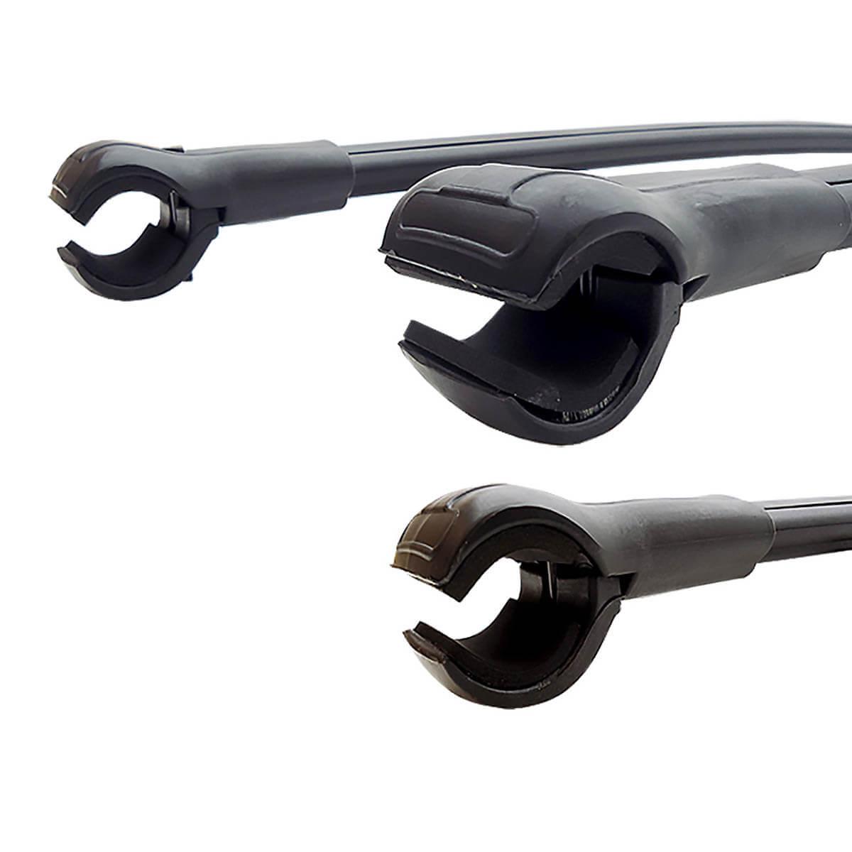 Travessa rack de teto larga preta alumínio Ecosport 2010 a 2012