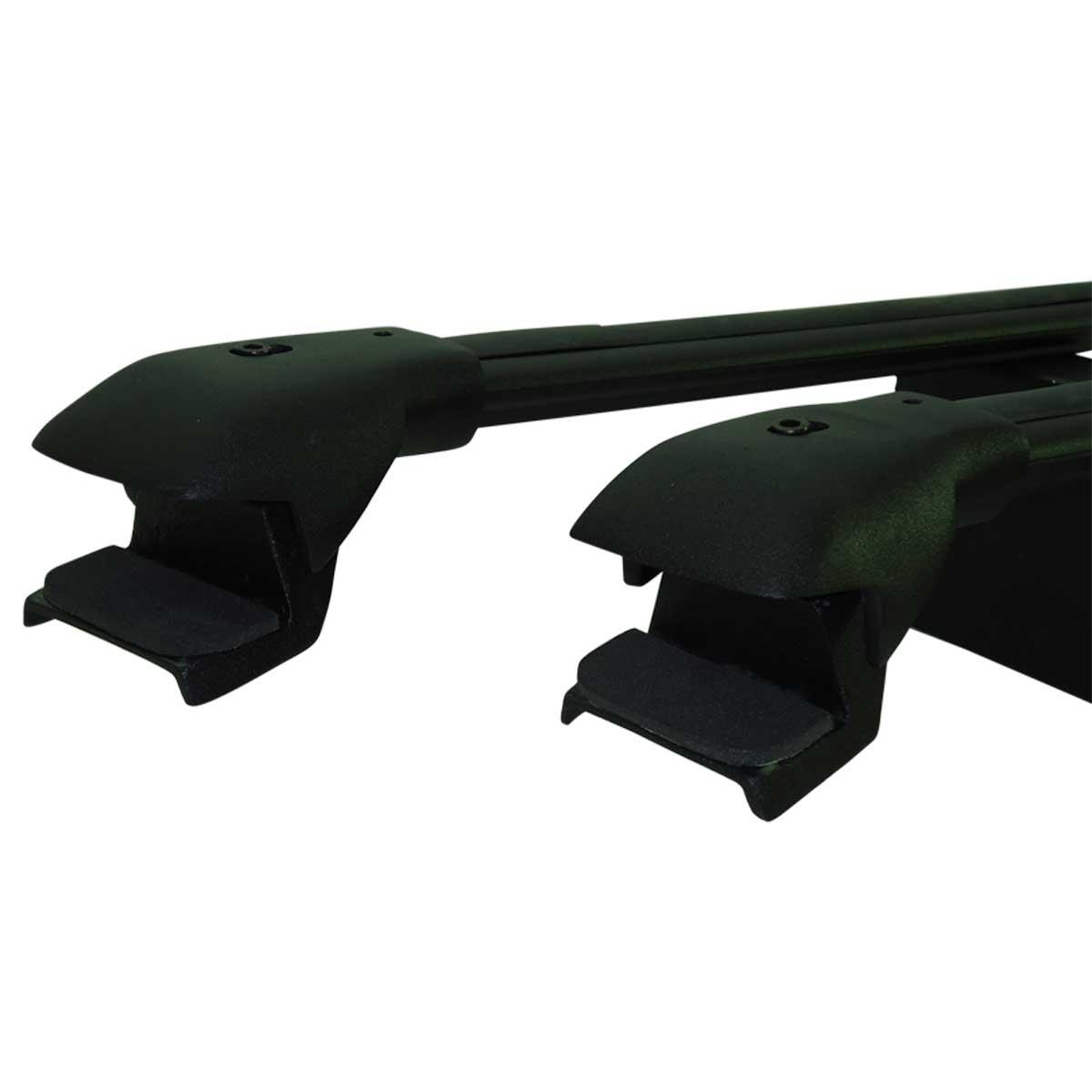 Travessa rack de teto larga preta alumínio Palio Weekend Adventure 2009 a 2012 ou Weekend Adventure 2013 a 2017