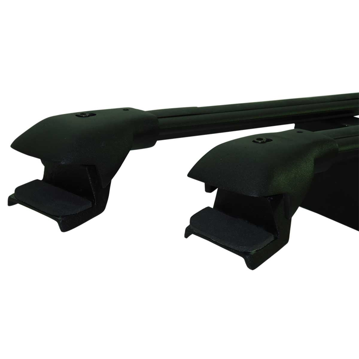 Travessa rack de teto larga preta alumínio Palio Weekend Adventure 2009 a 2012 ou Weekend Adventure 2013 a 2018