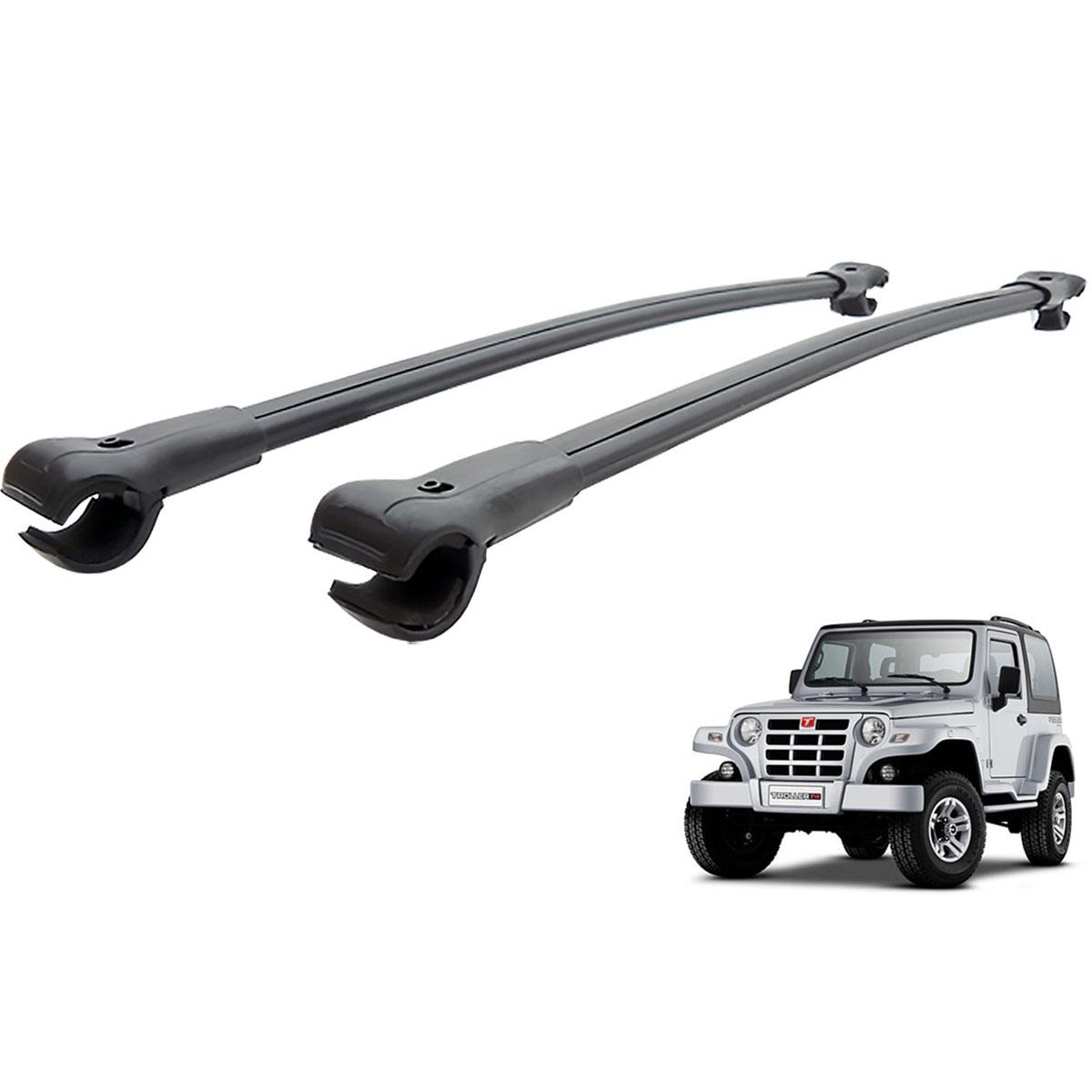 Travessa rack de teto larga preta alumínio Troller 2001 a 2008
