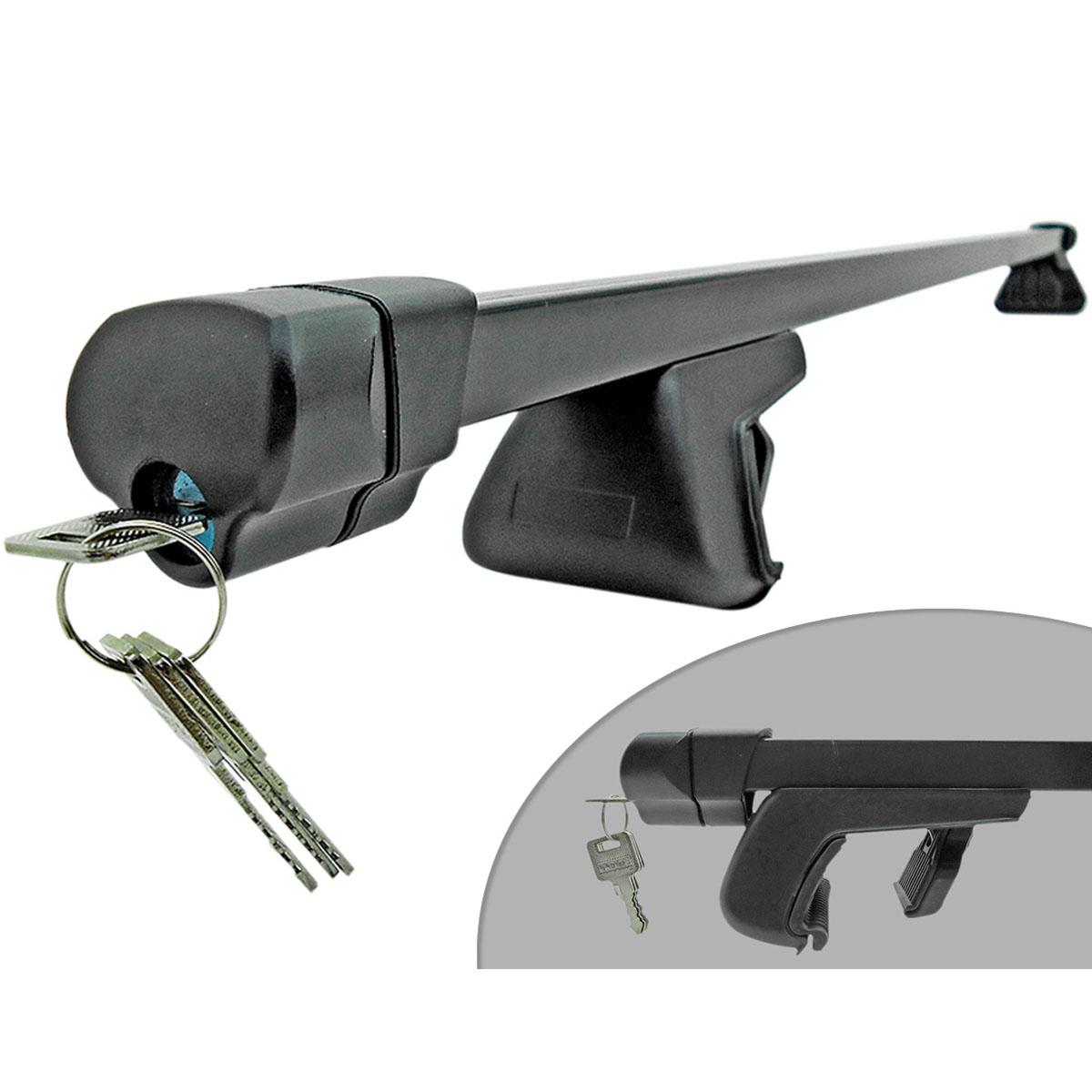 Travessa rack de teto preta com chave HB20X 2014 a 2017