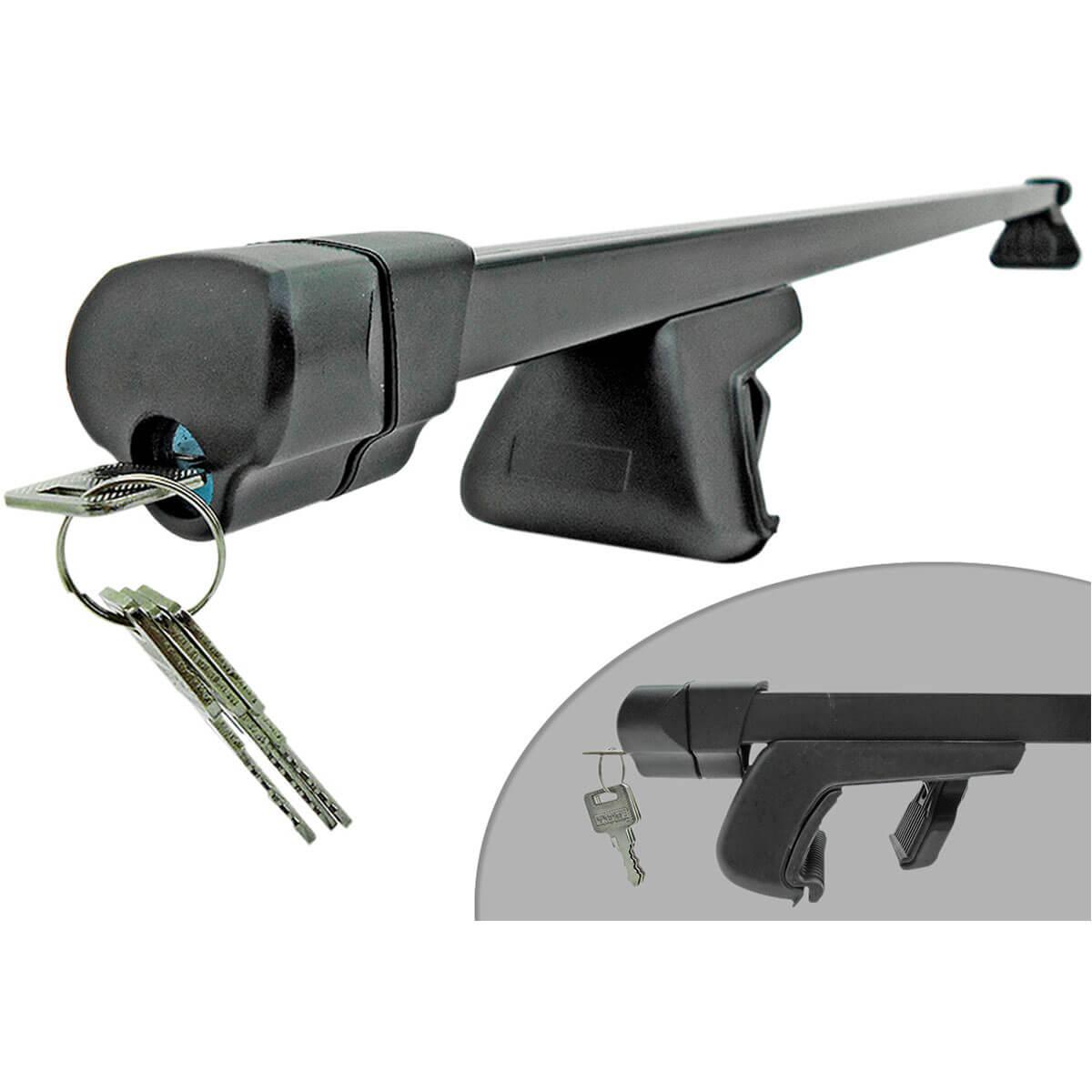 Travessa rack de teto preta com chave IX35 2011 a 2017