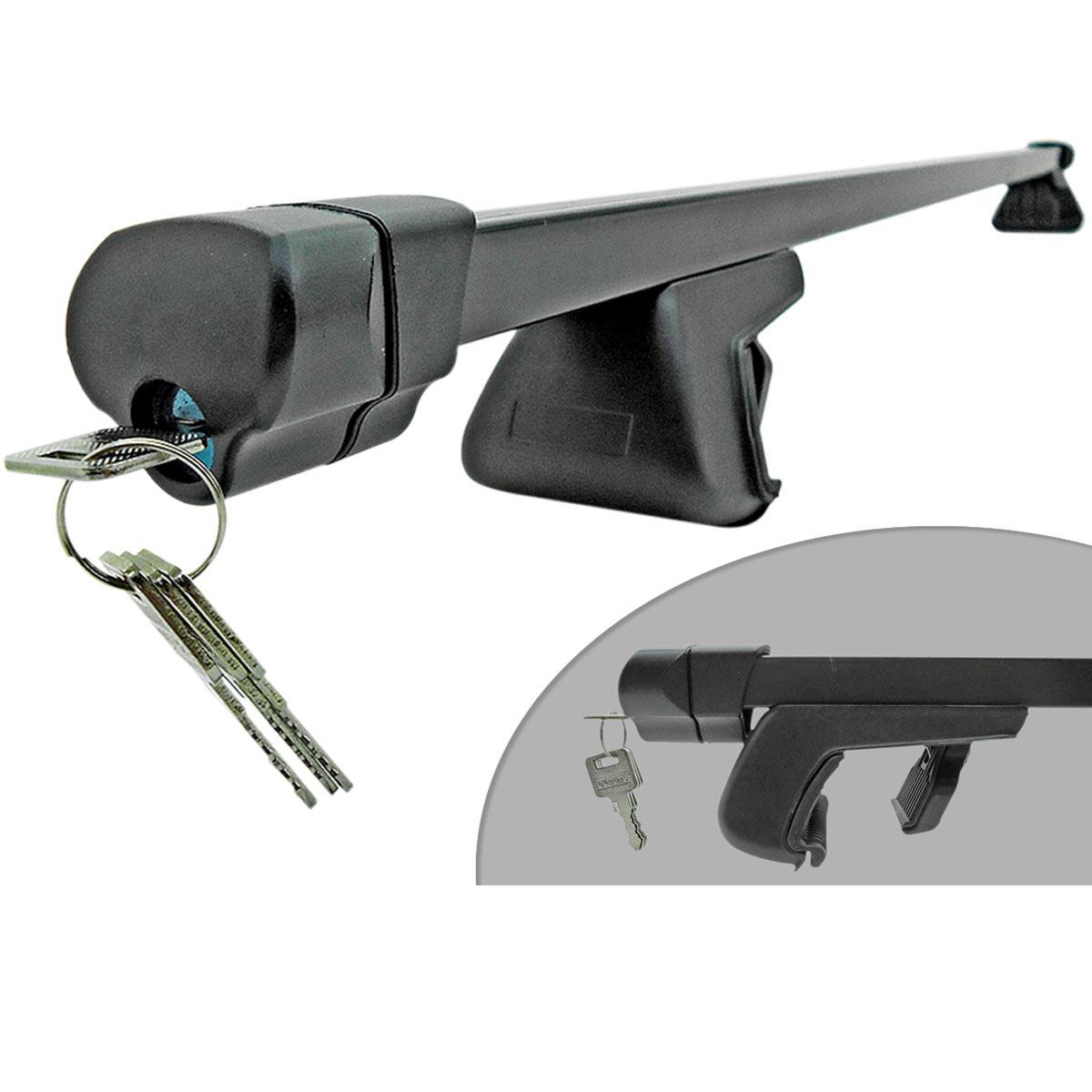 Travessa rack de teto preta com chave Saveiro 2010 a 2017 cabine estendida ou dupla