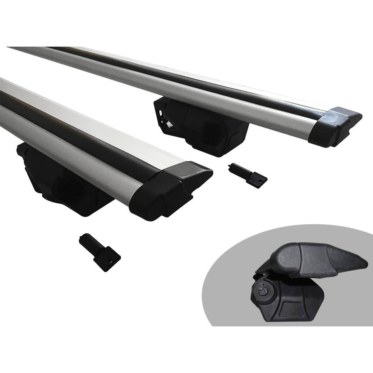 Travessa rack de teto Procargo Duster 2012 a 2015 com trava de segurança