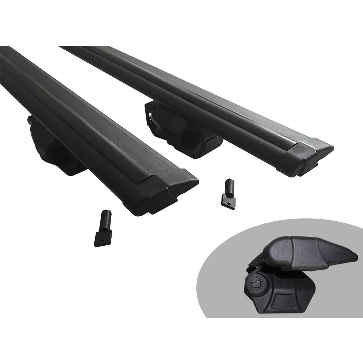 Travessa rack de teto Procargo preta Idea 2006 a 2016 com trava de segurança