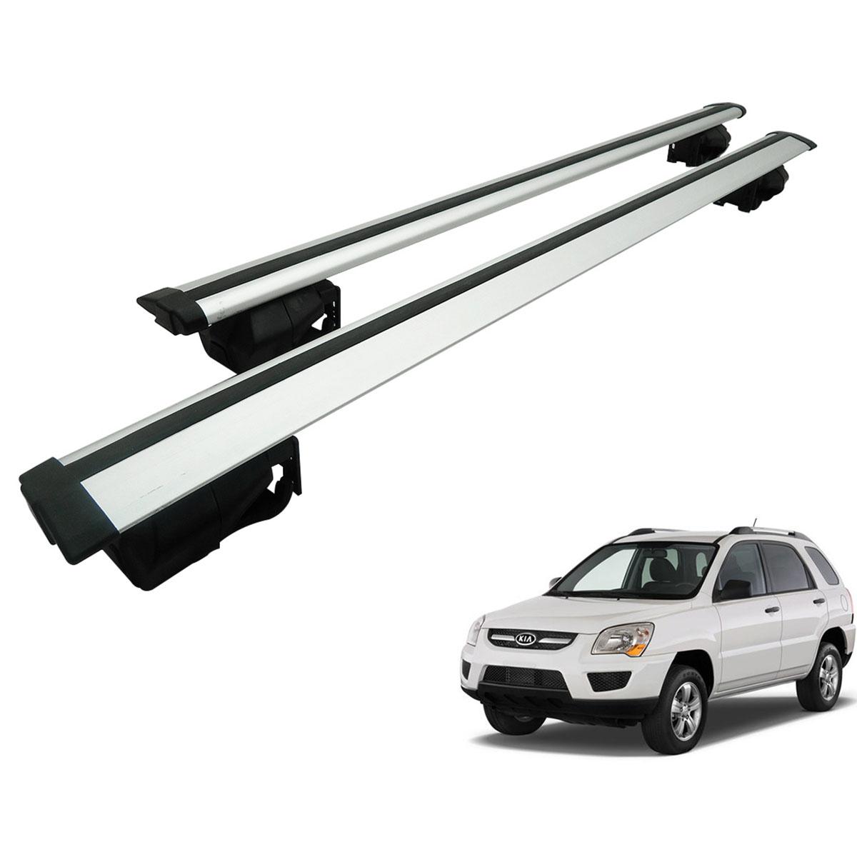 Travessa rack de teto Procargo Sportage 2007 a 2010 com trava de segurança