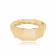 Bracelete geométrico fosco banhado em ouro 18k